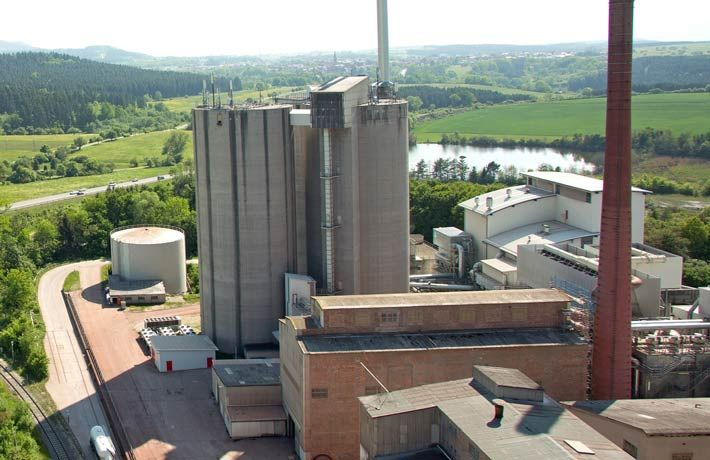 Reducing the cement plant's CO2 emissions